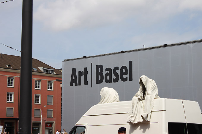 Public art project in Basel by Manfred Kielnhofer The ghost car ride by Manfred Kielnhofer on the trip to the contemporary art fairs Basel, ArtBasel, Liste, Scope, Volta, ... http://kielnhofer.com