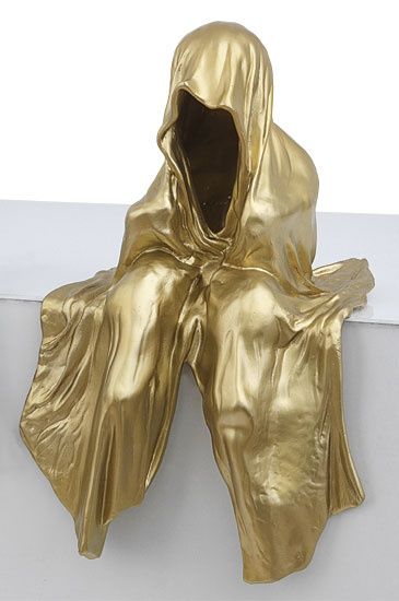 arsmundi skuptur mini waechter manfred kielnhofer gold contemporary art arts design sculpture