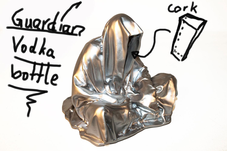 bottle-vodka-guardians-of-time-waechter-der-zeit-by-sculptor-manfred-kielnhofer-modern-contemporary-art-antique-design-arts-sculpture-1117y