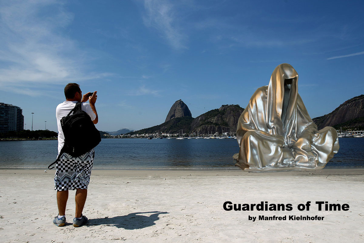 beach-Rio-de-Janeiro-guardians-of-time-by-manfred-kielnhofer-contemporary-art-sculpture-arts-statue-